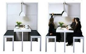 Space Saving Dining Table Zampco - Dining table with hidden chairs