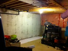 Best Paint For Concrete Walls In Basement by Best Unfinished Basement Walls Isnt It So Much More Bright And