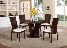 crown mark daria 5 piece dining set with round pedestal table and