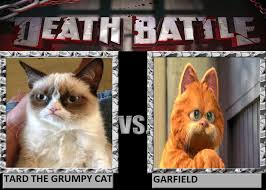 Tard The Grumpy Cat Meme - tard the grumpy cat vs garfield by the doctor1996 on deviantart