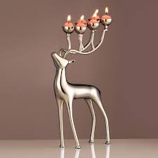 best and cheap silver tooarts elk candlestick prcatical ornament