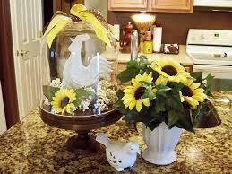 Modern Sunflower Kitchen Decor Marble Countertop Ceramic Vase