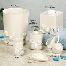seaside seashell coastal bath accessories click to expand