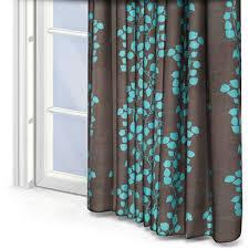Brown Turquoise Curtains Kestrel Gardenia Trellis Turquoise Curtain Blinds Direct