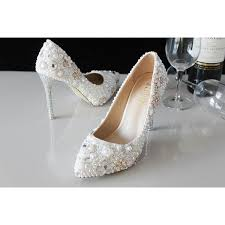 pearl wedding shoes white pearl wedding shoes pearl bridal shoes rhinestone