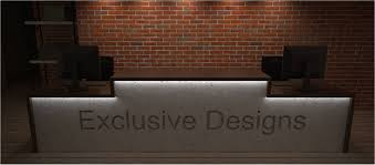 Concrete Reception Desk The Perils Of Being A Perfectionist Anita Brown 3d Visualisation