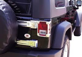 Jeep Jk Tail Light Covers Putco Jeep Wrangler Chrome Tail Light Covers Autotrucktoys Com