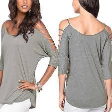 shoulder cut out blouse cutout design neck shirt casual shoulder