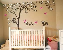 Custom Wall Decals For Nursery Custom Wall Decals For Nursery Owl Fox Bird Blossom Personalize