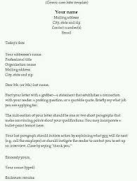 how to set up a cover letter of resume