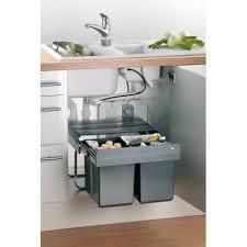 poubelle cuisine tri poubelle tri sélectif 2 seaux pour sous évier poubelles pour
