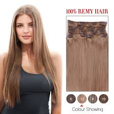 clip in hair extensions for hair 14 inch golden brown 12 7pcs set remy clip