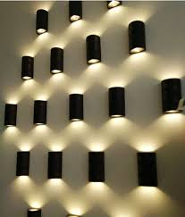 outdoor double wall light 10pcs ip65 outdoor waterproof bollard cob led wall light with double
