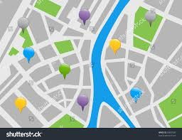 Map With Labels City Map Labels Vector Icon Illustration Stock Vector 95807008
