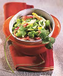 comment cuisiner les feves surgel馥s recette salade tiède de fèves au crabe