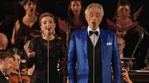 Blind Italian Singer Time To Say Goodbye Andrea Bocelli Landmarks Live In Concert O Sole Mio Andrea