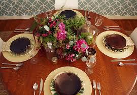 botanical print inspired thanksgiving table rosemary on the tv