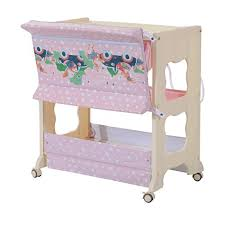 changing table with wheels homcom baby changing table station portable changer baby storage