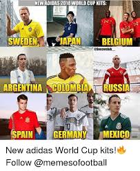 World Cup Memes - new adidas 2018 world cup kits eenjapan belgium argentina colombia