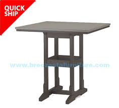 36 x 36 table quick ship 36 x 36 inch square counter table black grey