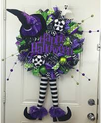 Deco Mesh Halloween Wreath Ideas by Halloween Deco Mesh Wreath Witch Deco Mesh Wreath Wreath With