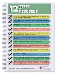 12 steps worksheets worksheets