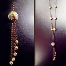 long vintage necklace images Best cloisonne beads vintage products on wanelo jpg