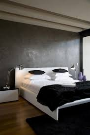 minimalist bedroom designs small space with two color black and
