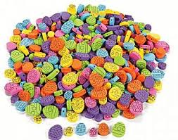 500 easter egg printed foam beads for kids crafts