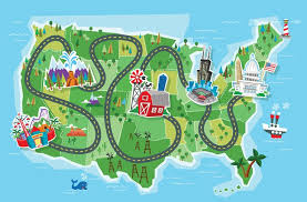 map trip horizon clipart road trip map pencil and in color horizon