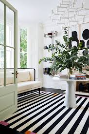 Black And White Stripped Rug 11 Stunning Black And White Floors From Permanent To Temporary