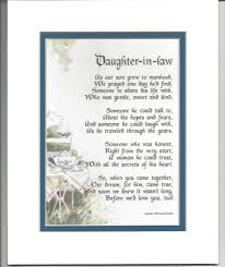 amazon com daughter in law gift present poem for bridal shower or