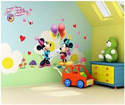 chambre enfant mickey topro autocollants muraux décoratifs pour chambre d enfant motif