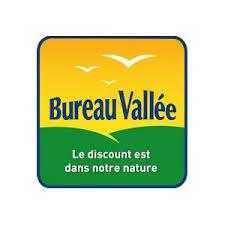logo bureau vallee bureau vallée participe au forum de la franchise de lyon