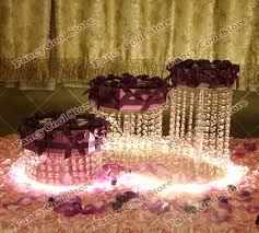 cupcake stand with led lights 3pcs lot wedding crystal cake stand 3pcs differents stand cake