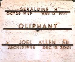 joel allen joel allen oliphant sr 1946 2001 find a grave memorial