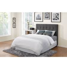 bedroom enchanting gray tufted headboard for comfortable bed linens
