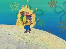 Spongebob Meme Creator - burning fish spongebob meme generator imgflip