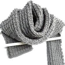 Mens Rib - ridge rib s scarf purl avenue