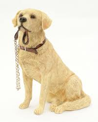 sitting golden labrador dog ornament from the walkies range of