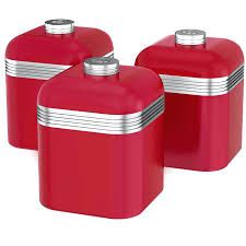 red canisters kitchen decor red canisters tea coffee sugar argos contempo set of 3 kitchen decor