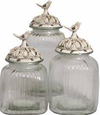 Glass Canister Sets For Kitchen by Glass Kitchen Canister Sets Ebay