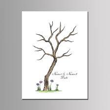 online shop personalized fingerprint guest book for wedding tree