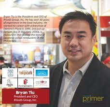 bryan tiu of ifoods group inc philippine primer