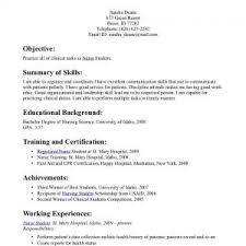 Working Student Resume Example Resume Sample For Working Students Office Skills Profile
