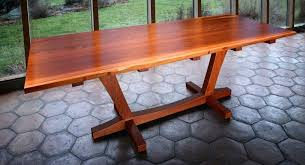 slab dining room table handmade salvaged redwood slab dining table by thomas lutz design