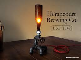 Steampunk Furniture Industrial Beer Lamp Bottle Lighting Man Cave Steampunk