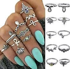 midi rings set boho women knuckle ring midi finger tip rings set style