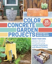 color concrete garden projects make your own planters furniture