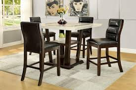 5 pc counter height dining table set lacombe 105848 counter height dining 5pc set by coaster